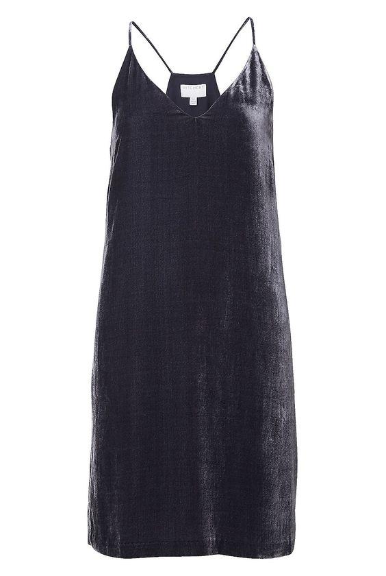 Velvet Slip Dress: