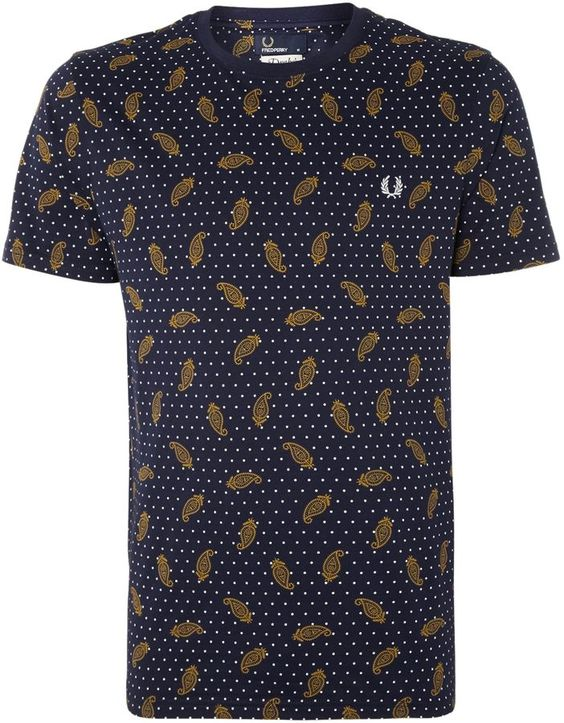 Fred Perry Men's Drakes floral trim short sleeve t shirt on shopstyle.co.uk