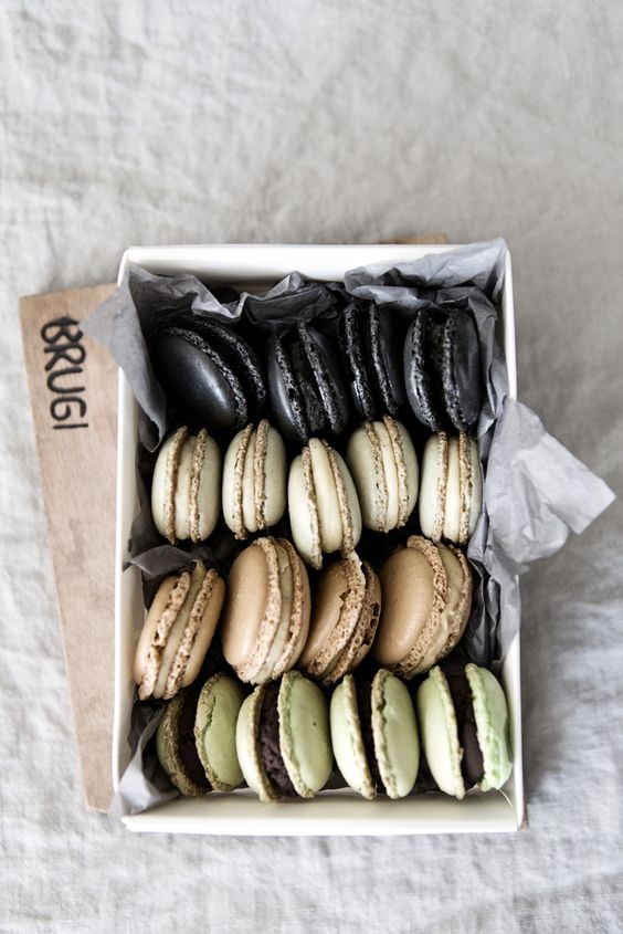 macaroons: Earth Tone, Color Palettes, Lerkenfeldt Food, French Macaroons, Food Photography, Cookies Macarons, French Macarons, Box, Food Drink