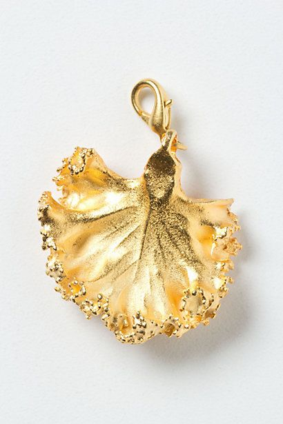 give the gift of kale, beautiful kale!  Gilt Kale Collector's Charm #anthropologie