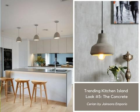 Pendants Lights To Design A Pinterest Worthy Kitchen Island New Kitchen Inspiration Concrete Pendant Light Kitchen Island Lighting Pendant