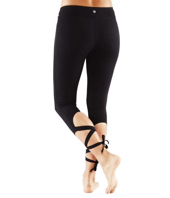 manduka flux wrap leggings in black