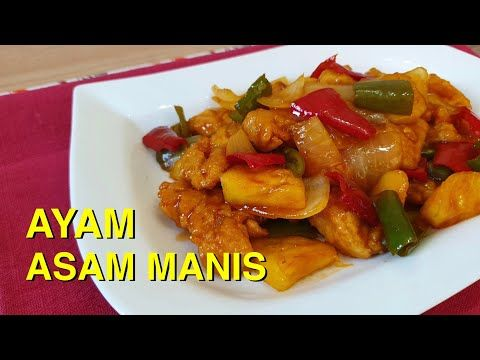 Ayam Asam Manis Nanas Ala Restaurant Versi Rumahan Youtube Resep Ayam Resep Makanan Makanan Dan Minuman
