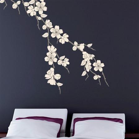 Vinilo rama con flores blancas de disfruta de tus paredes for Ramas blancas decoracion