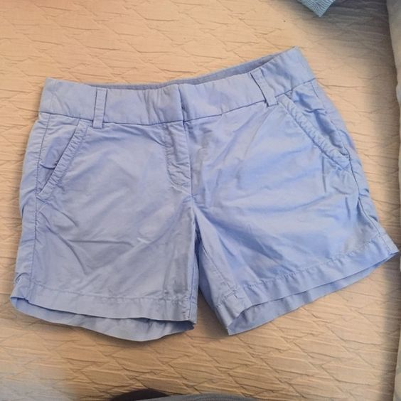 "Jcrew 5"" inseam chino shorts Beautiful light blue. Excellent condition!! Adorable. J. Crew Shorts"