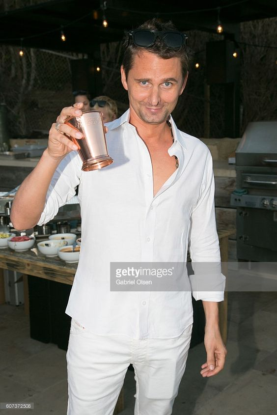 Matt Bellamy of Muse attends the Treats! Magazine 4th Annual White Party…: