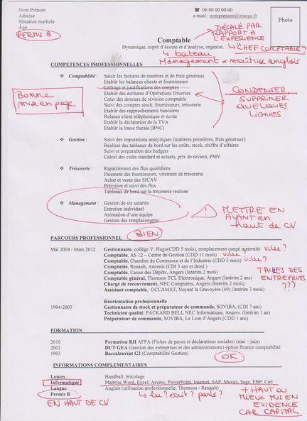 exemple de cv de comptable corrig u00e9  source   keljob