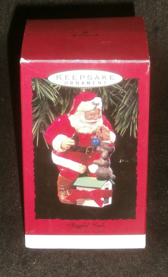 Hallmark Keepsake Christmas Ornament 1993 Playful Pals Coca Cola QX5742 NEW/BOX by DiscountFigurines on Etsy
