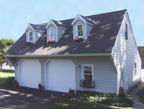 36 x 28 x 8 2 Car Cape Cod Garage at Menards garage