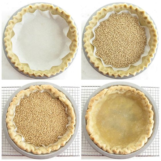 How to blind bake a pie crust via @kingarthurflour: