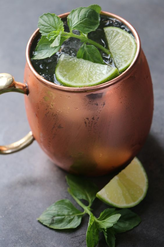 Moscow mule - Vodka, ginger beer, lime juice local favorite #bozeman #montana #cocktails