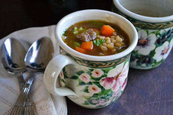 The view from Great Island: Luxurious Beef Barley Soup - Liked this.  Will try to make it again with a few tweeks of my own. ~ CML