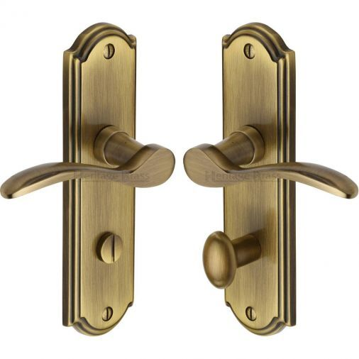 Howard How1330 At Antique Brass Lever Bathroom Door Handles Bathroom Door Handles Door Handles Wood Appliques