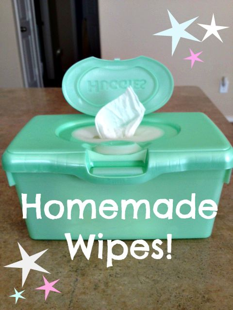 How to make homemade wipes in an actual wipes container!  This is so simple and much more gentle on your baby's skin!