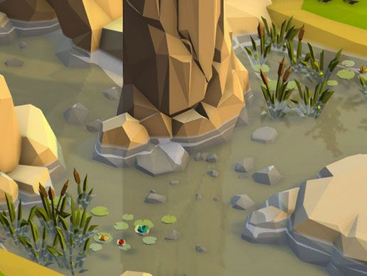 Water Effect Fits For Lowpoly Style In 2020 Low Poly Games Low