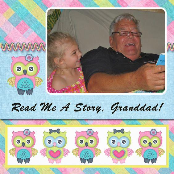 Read me a story, Grandad, left side - Scrapbook.com