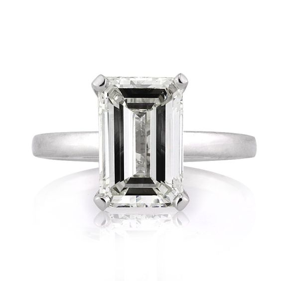A gorgeous emerald cut solitaire with a great combination at an outstanding value! This mesmerizing 3.04ct emerald cut diamond is EGL certified at I-J in color and SI1 in clarity.