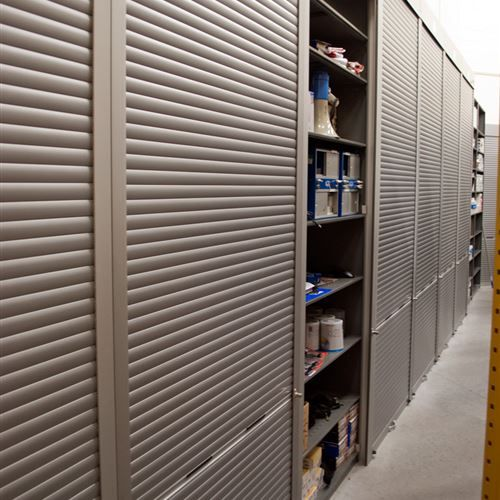 Need To Add A Rolling Security Shutter To A Shelving Application Rollok Can Help And Has Been Creating S Aluminum Shutters Security Shutters Plastic Shutters