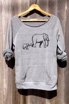 Cute elephant sweater top