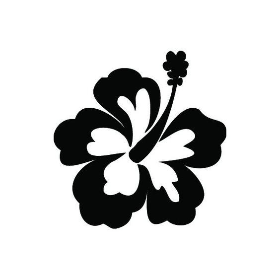 Hibiscus Flower Tattoo Stencil: Hibiscus Glitter Tattoo Stencil