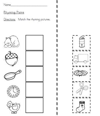 math worksheet : drumroll please!  teacing  pinterest  cut and paste  : Kindergarten Rhyming Worksheets Free