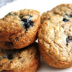 """Low-Fat Blueberry Bran Muffiins   """"Best blueberry bran muffins EVER! I will never use another recipe! Super moist and delicious!!!! I followed the recipe exactly and they turned out perfectly. I've never made a batch of muffins this good before!!"""" -Jen"""
