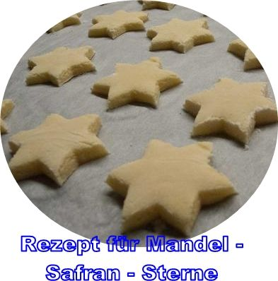 Rezept für Mandel-Safran-Sterne