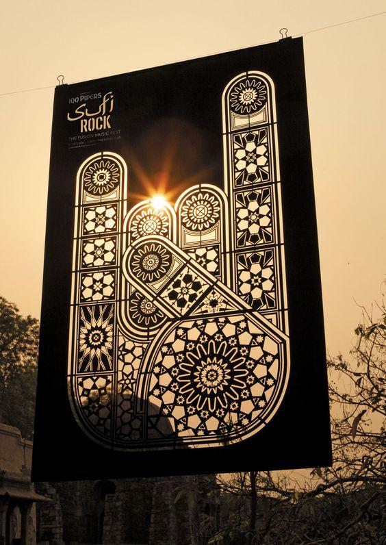 Sufi Rock | Die-cut Music Concert Advertising Poster Design  | Award-winning Art Direction | D&AD