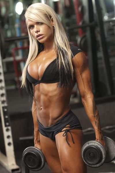 The Ripped And Curvy Blonde Brazilian Muscle Babe Ifbb
