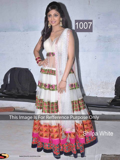 New Bollywood Replica Shilpa White Suit Only In 2650