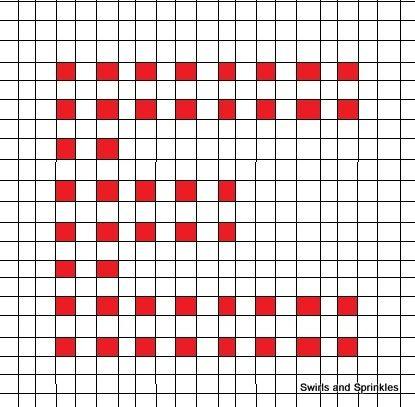 Free Crochet Pattern For The Letter O : Swirls and Sprinkles: free crochet afghan letter E pattern ...