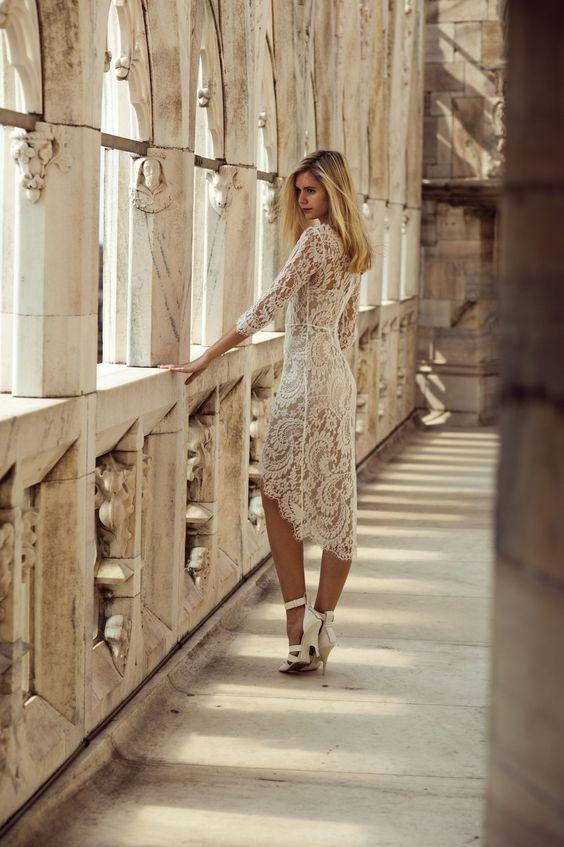 lace dress #white