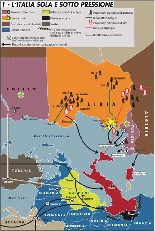 L'Italia sola e sotto pressione - rivista italiana di geopolitica - Limes: