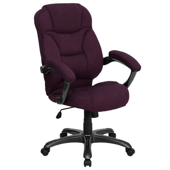 Madrid Executive Microfiber Adjustable Swivel Office Chair with Padded Arms