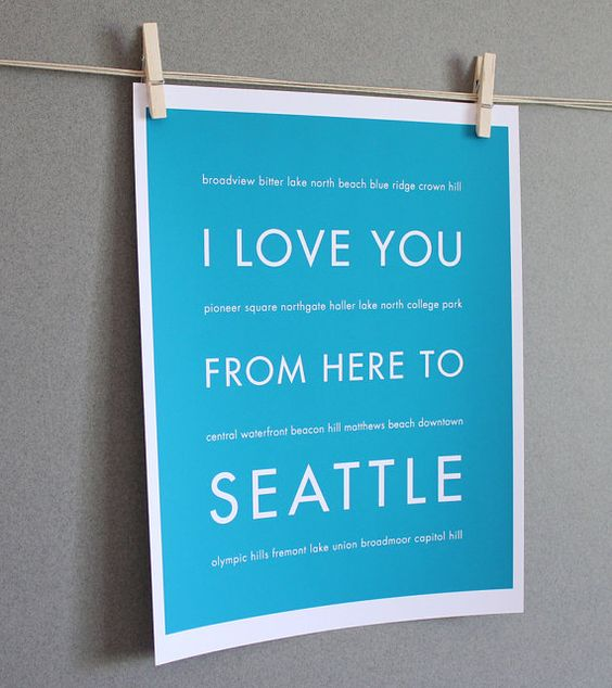 Love you to Seattle and back.