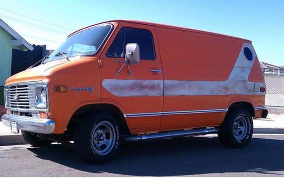 Custom 70's Chevy van...vk
