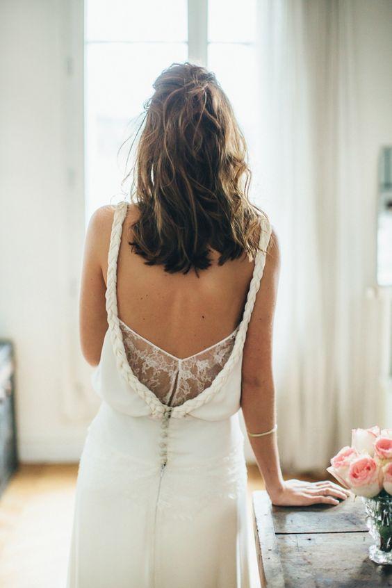 Shooting d'inspiration A Parisian Wedding - Robe de mariée : Sophie Sarfati - Photo : Yann Audic - Modèle : Salomé de Maat - Direction artistique : La Fiancée du Panda