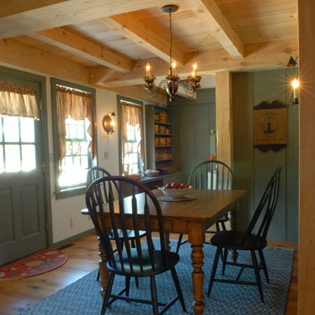 Early New England Homes Post And Beam Timbered Ceiling