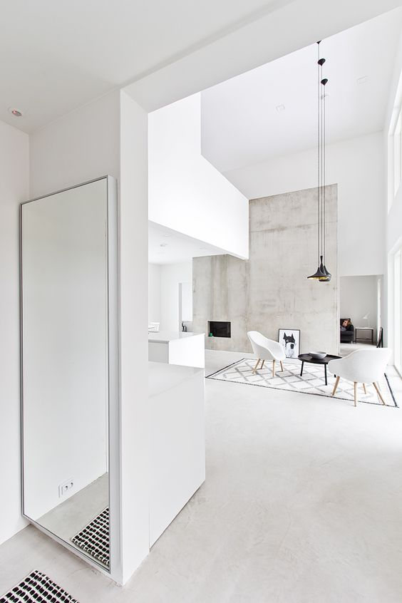 Black, white and concrete living room photo by Marja Wickman blog Musta Ovi: