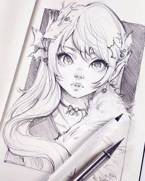 Featured Artist Ladowska Anime Drawings Sketches Anime Sketch Anime Drawings