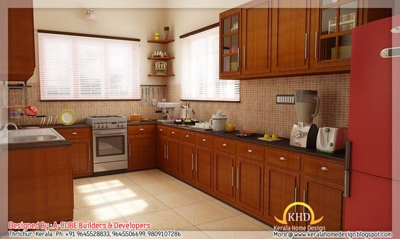Home interior design photos in kerala design kitchen for Kitchen design kerala