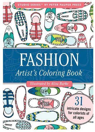 moda livro de colorir portátil