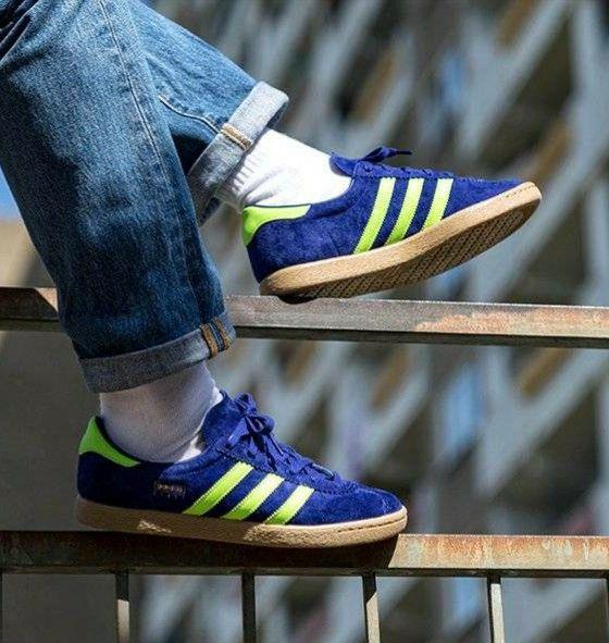Real Purple Adidas Stadt on foot.. | Adidas models, Adidas