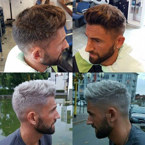 Esteban Casagolda... cool guy & pro voetballer bij OH Leuven ? Hair transformation in our salon but his formula is top secret! ?