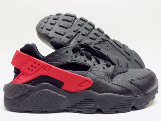 Nike Air Huarache Black Sport Red