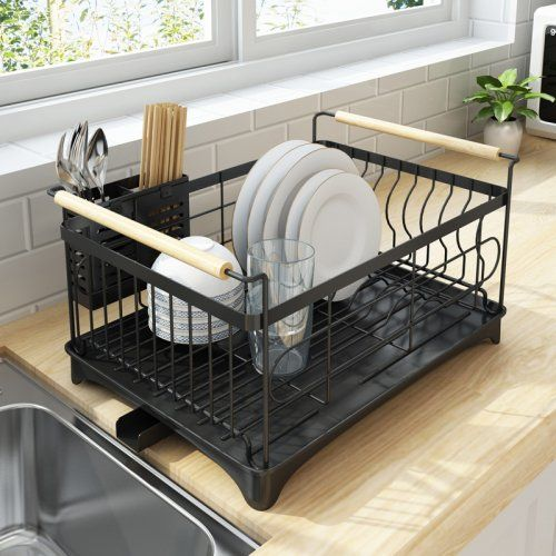 Rust Proof Kitchen Draining Dish Drying Rack Dish Rack With Black