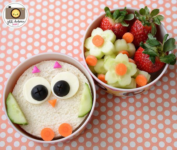 kids school lunch bento box easy owl sandwich and cucumber flower lunch bento fun food. Black Bedroom Furniture Sets. Home Design Ideas