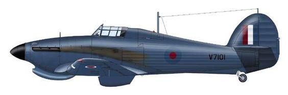 Hurricane Mk.I Unit: ? Sqn, RAF Serial: V7101 Pilot - Flying Officer Adrian Warburton. Luqa, Malta, July 1941