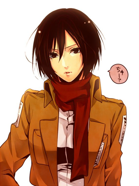 """Chu?"" Five Seconds before being Kissed Mikasa Ackerman - Attack on Titan"