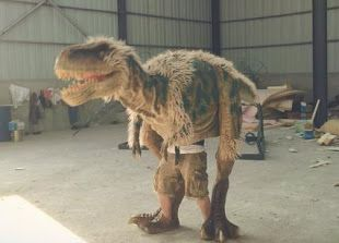 Realistic dinosaur costume for sale Realistic dinosaur costume, walking dinosaur costume is for sale now start from $2,998 only! http://www.jadebamboodinos.com/realistic-walking-dinosaur-costume.html